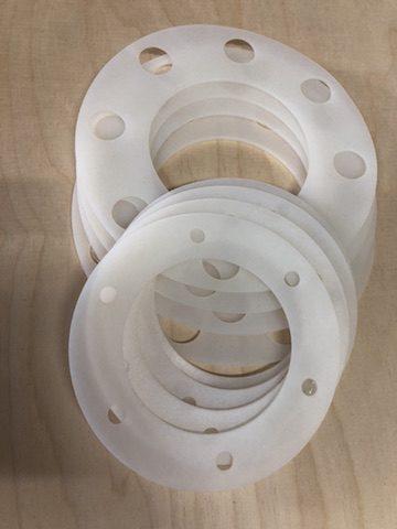 Uszczelki wycinane cnc z silikonu