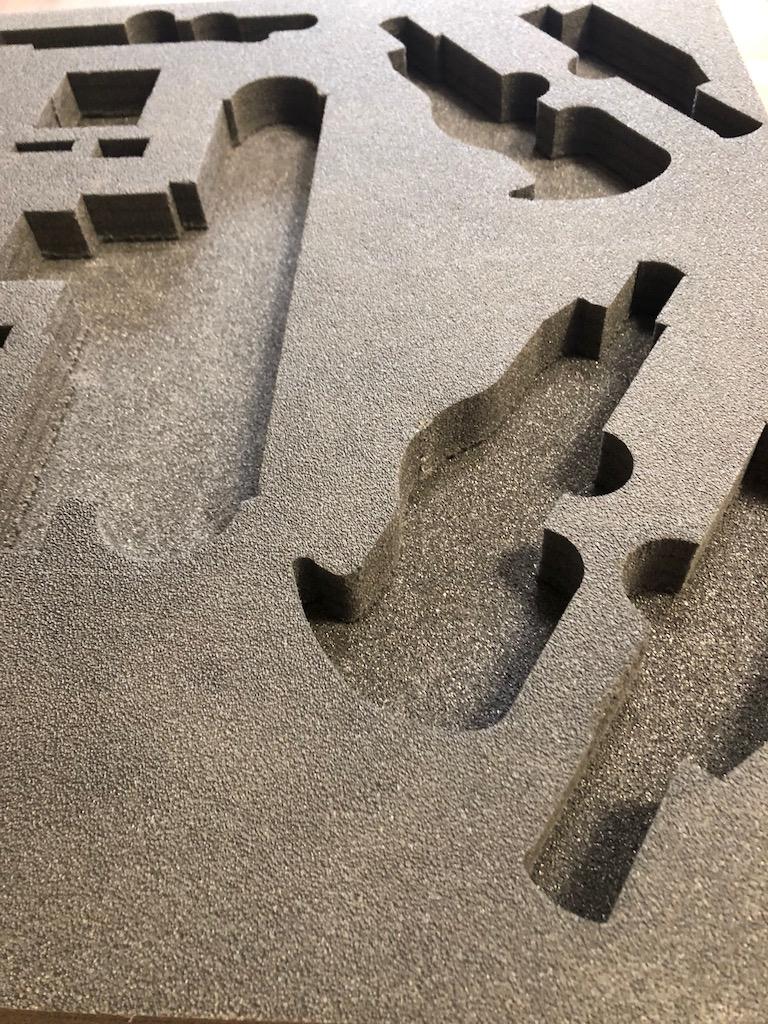 Frezowanie cnc pianki sieciowanej