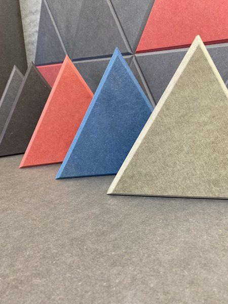Panele trójkątne barwione w masie