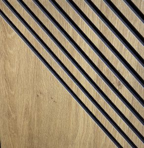 Panel ryfloeany mdf czarny