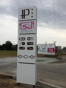 HP pylon, reklama zewnętrzna, frezowanie pylonów, producent pylonów, produkcja reklam, frezujemy.com, reklama katowice